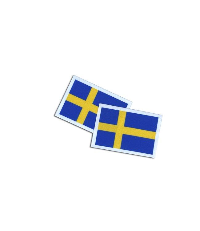 KV Gymnastics Wear Zweedse vlag stretch (7cm x 5,5cm)