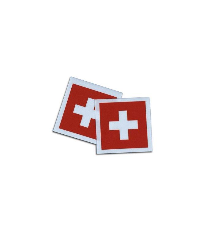 KV Gymnastics Wear Zwitserse vlag stretch (6,5cm x 5,5cm)