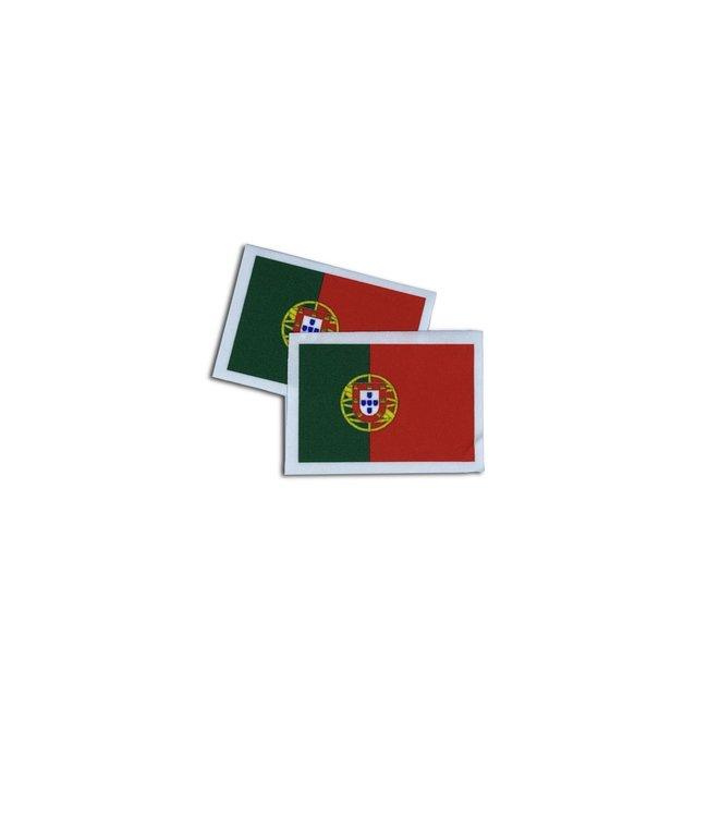 KV Gymnastics Wear Portugese vlag stretch (7cm x 5,5cm)