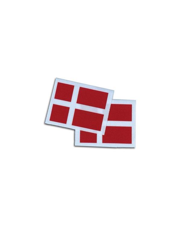 KV Gymnastics Wear Deense vlag stretch (7cm x 5,5cm)