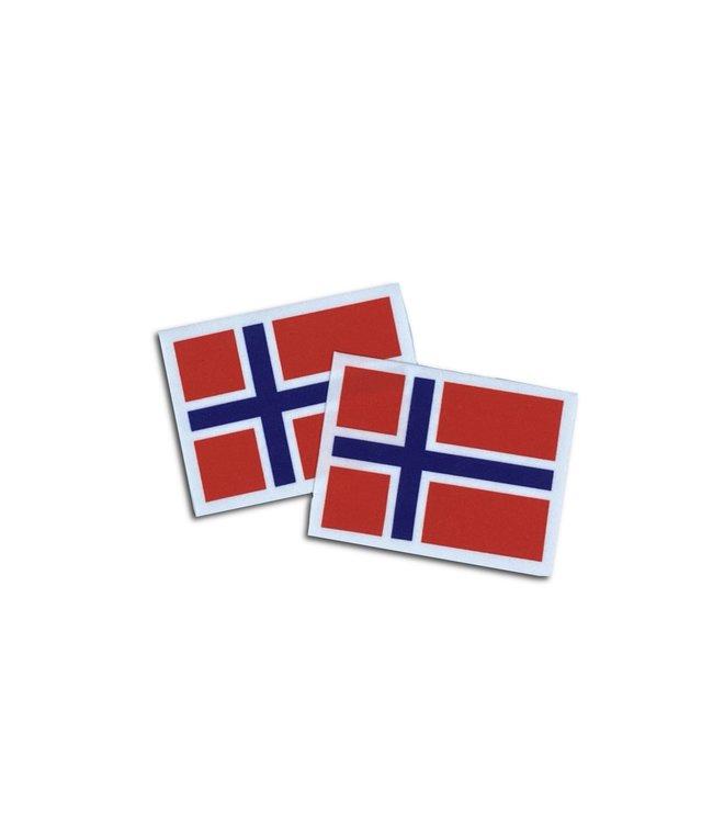 KV Gymnastics Wear Noorweegse vlag stretch (7cm x 5,5cm)