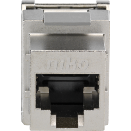 Niko data connector RJ45 cat.5E afgeschermd bandbreedte tot 100 Mhz. (650-45055)