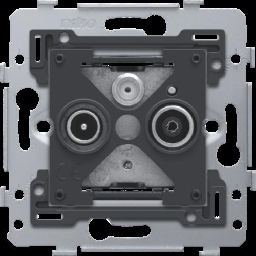 coax antenne wandcontactdoos