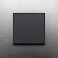 Pure stainless steel on anthracite