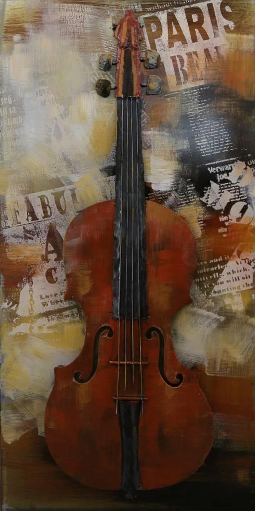 Eliassen 3D-Malerei 50x100cm Violine