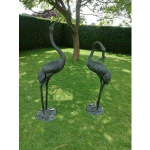 Eliassen Sprühfigur Bronze Reiher groß