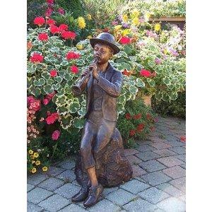 Eliassen Spritze Bronze Junge mit Flöte