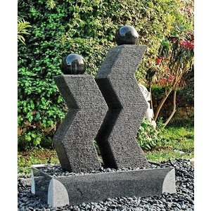 Eliassen Terrassenbrunnen zusammen Original Granit