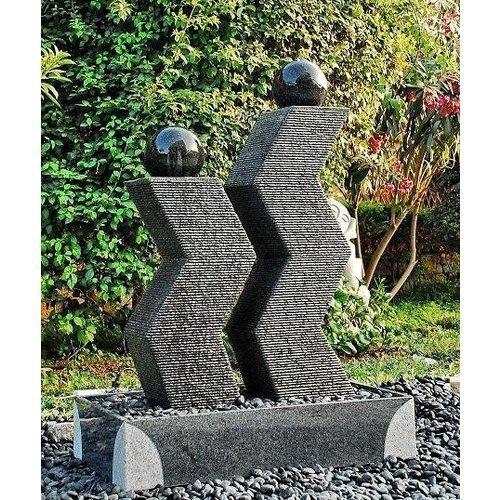 Eliassen Terrassenbrunnen Zusammen Ursprünglicher Granit