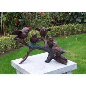 Eliassen Bild Bronze 5 Vögel am Zweig