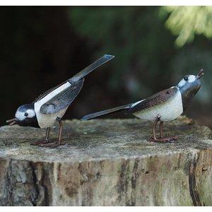 Eliassen Metal figure pair of birds 8cm