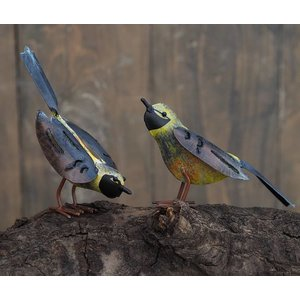 Eliassen Metal figure pair of birds 15cm