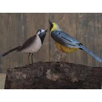 Metalen figuur paar vogels 30x15cm
