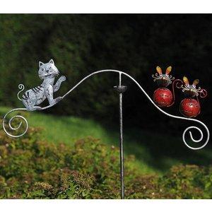 Eliassen Gartenstecker Balance Katze und Maus