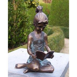 Eliassen Bildbronzemädchen mit dem Buch klein