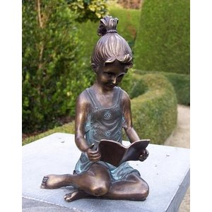 Eliassen Image bronze girl with book small