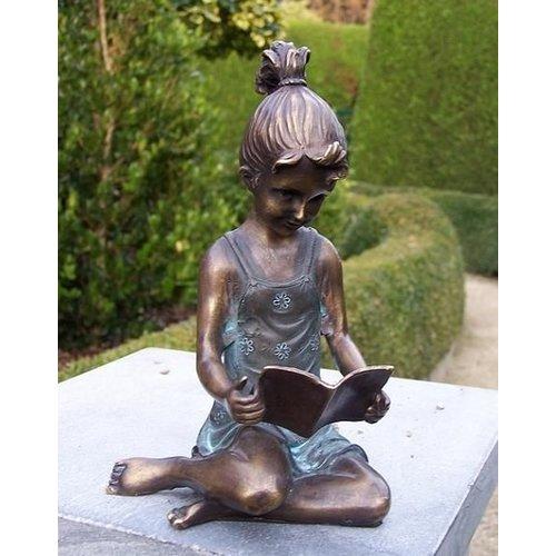 Eliassen Beeld brons meisje met boekje groot