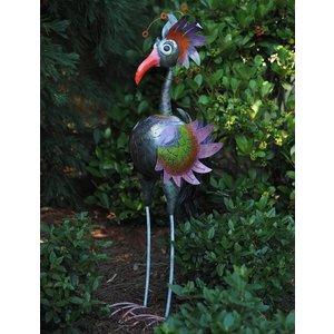 Metalen figuur vogel extra groot