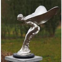 beeld brons Vliegende vrouw verzilverd