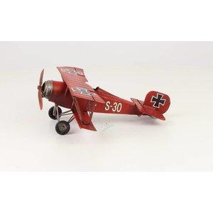Miniaturmodell Zinn Red Baron klein
