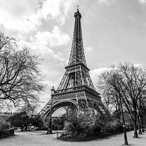Eliassen Glasschilderij Eiffeltoren 100x100cm.