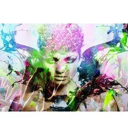 Eliassen Glass painting 110x160x0,4cm Colorful
