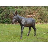 Beeld brons ezel