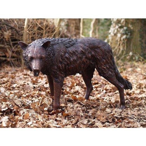 Eliassen Beeld brons staande wolf