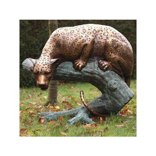 Eliassen Beeld brons jachtluipaard op stam