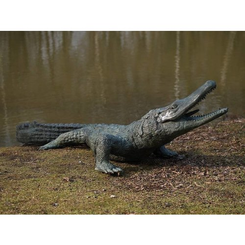 Eliassen Beeld brons krokodil groot