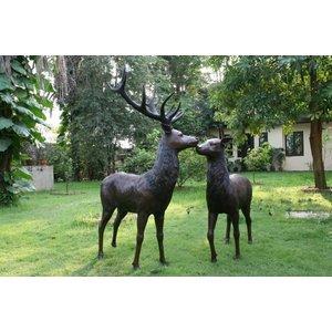Eliassen Image bronze standing deer big