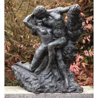 Beeld brons de kus van Rodin