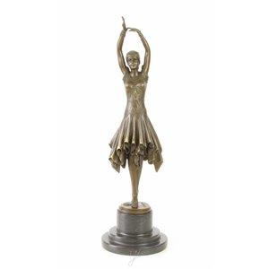 Beeld brons Klassieke danseres