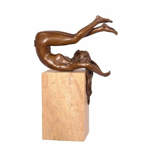Sculpture bronze Woman legs up