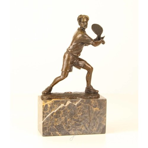 Bronzen beeld Tennis speler