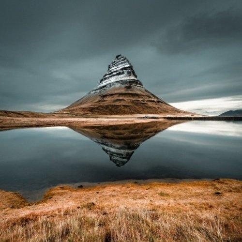 Eliassen Glasschilderij 100x100cm Vulkaan