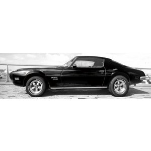 Eliassen Glasmalerei 160x60cm Schwarzes Auto
