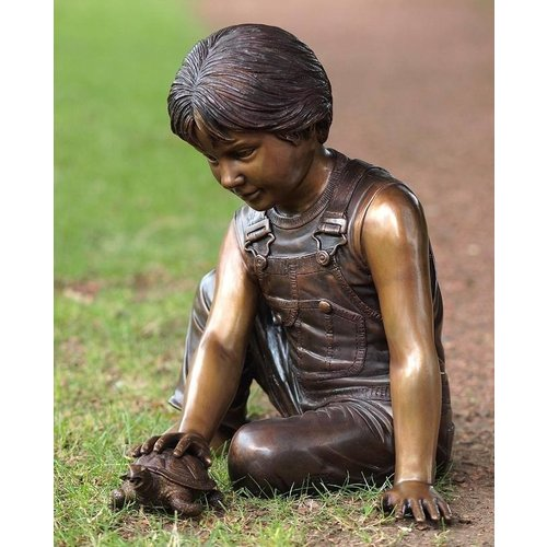 Eliassen Image bronze boy with turtle