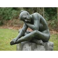 Beeld brons slapende naakte vrouw
