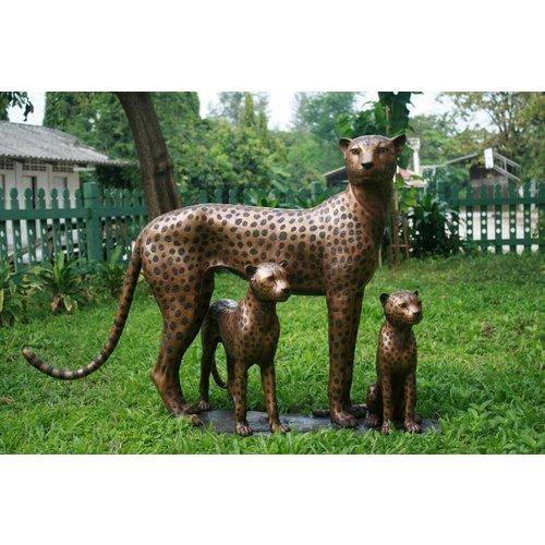 Eliassen Beeld brons cheeta met jongen