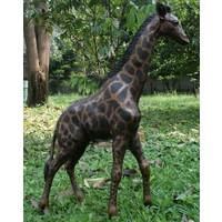 Beeld brons grote giraf
