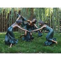 Beeld brons 3 dansende vrouwen