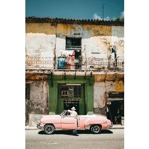 Wandkraft Malerei Dibond Pink 148x98cm