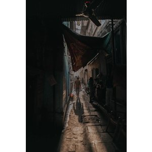 Wandkraft Schilderij dibond rvs  Drukte 148x98cm