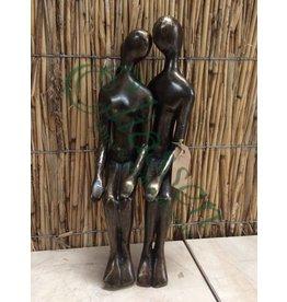 Bronze couple sitting