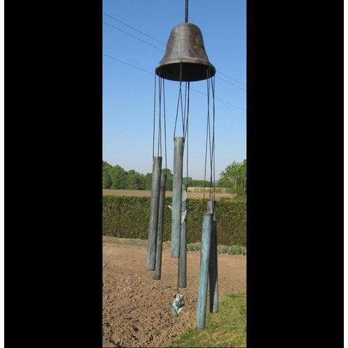 Eliassen Wind chimes bronze big bell with tulip