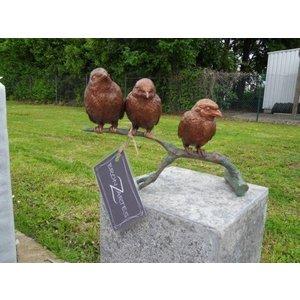Eliassen Image bronze sparrows on branch