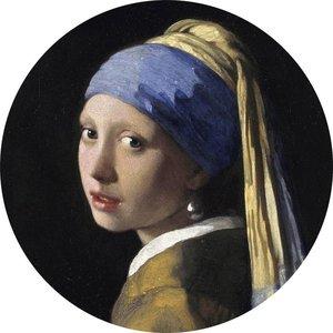 MondiArt Glas schilderij rond Meisje met de parel dia 40cm