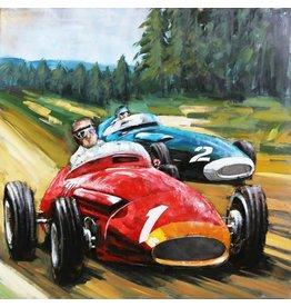 Schilderij 3d metaal Lotus 100x100cm