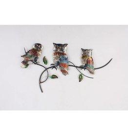 Wall decoration Owls on branch 84x48cm